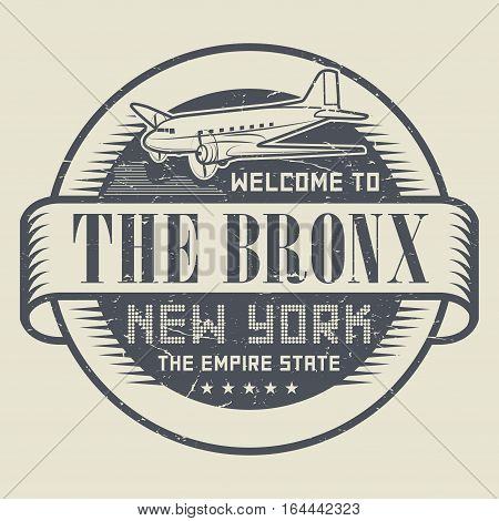 Grunge rubber stamp or tag with text Welcome to The Bronx New York vector illustration