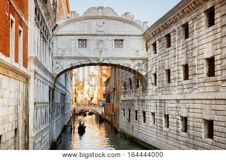 View Of The Bridge Of Sighs (ponte Dei Sospiri), Venice