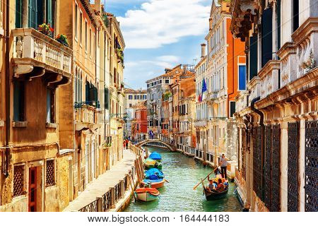 View Of The Rio Marin Canal, Venice, Italy