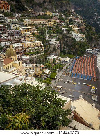 Amalfi Coast - Positano town in Italy