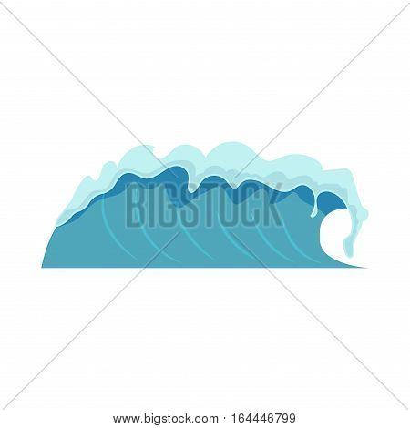 Water splash isolated on white background. Blue waves transparent clean liquid. Fresh purity drop clear flow nature drink. Sea motion drop.