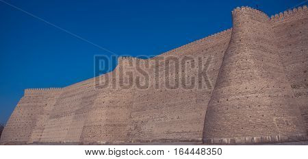 The Ark fortress located in the city of Bukhara Uzbekistan 2016