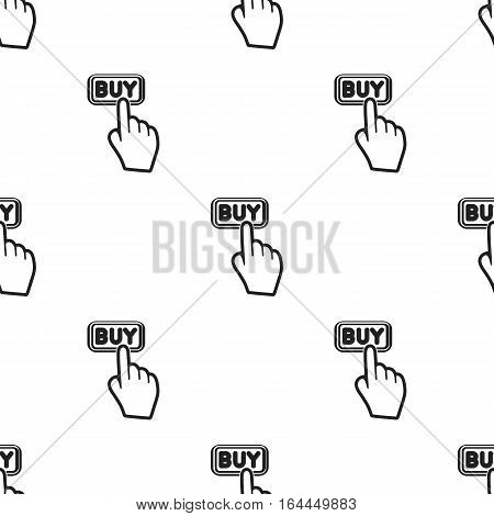 Buying click icon in black style isolated on white background. E-commerce pattern vector illustration.