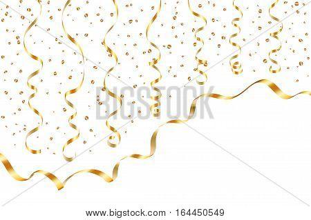 Gold Ribbon Confetti Golden Serpentine