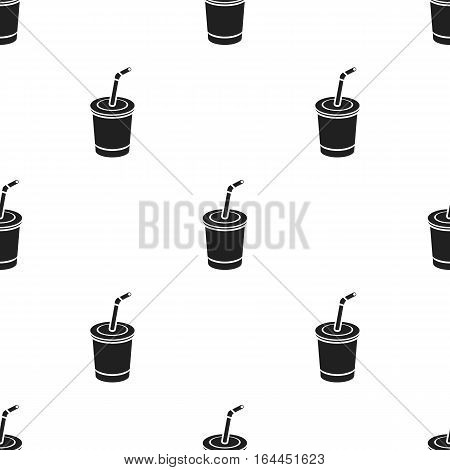 Coca-Cola vector illustration icon in black design