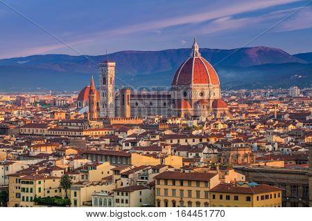 Florence. Cityscape image of Florence, Italy during sunrise.