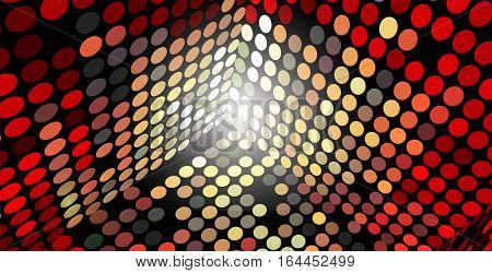 Vector Abstract Background Box Sides Made of Circles Eps 10 Transparency Used