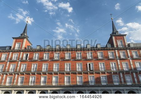 Madrid (Spain): historic Plaza Mayor the main square of the city