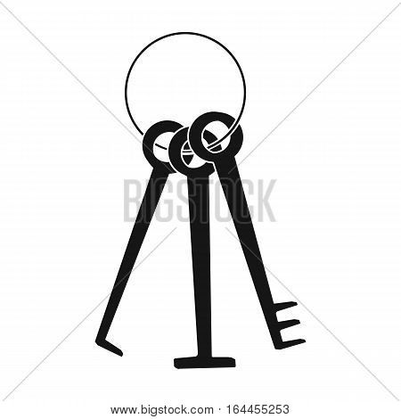 Hacker's lockpicks icon in black design isolated on white background. Hackers and hacking symbol stock vector illustration.