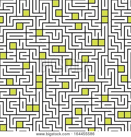 Seamless pattern with infinity rectangular maze. Modern endless ornament. Element of design.