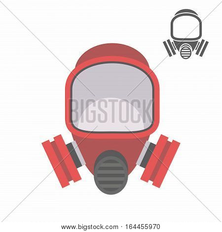 gas mask isolated on white background, vector illustration