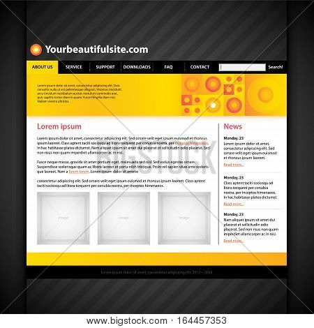 Modern Web Site Layout. Useful For Presentations And Advertising.