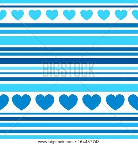 Seamless patterns with hearts, fabric texture, stripes background. Texture for web, print, wallpaper, home decor, textile background