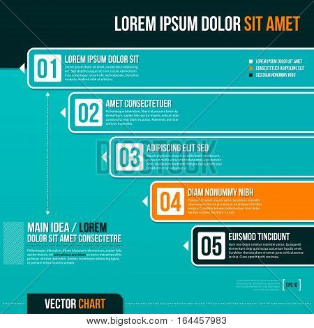 Vector Chart Template With Five Options. Useful For Presentations And Advertising.