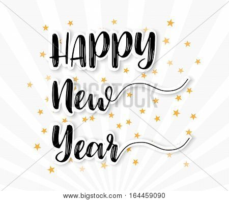 Happy New Year Greeting Card Background Vector Illustration