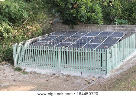 Solar Cell Panel In Park