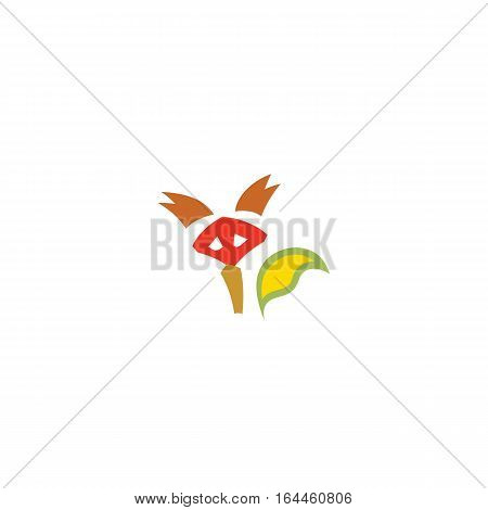 Fox masque icon isolated on a white background.