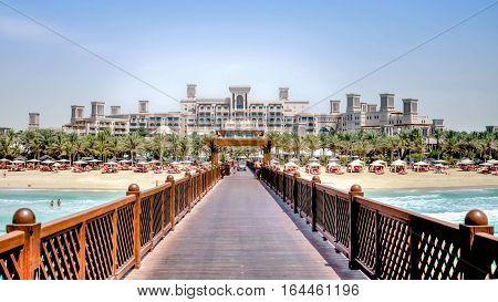 Dubai, UAE - May 31, 2013: Jumeirah Beach Hotel, Dubai