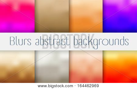 A set of abstract blur background for presentations creativity design brochures and websites