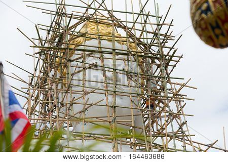 Buddist are building big Buddha statue in Thaland