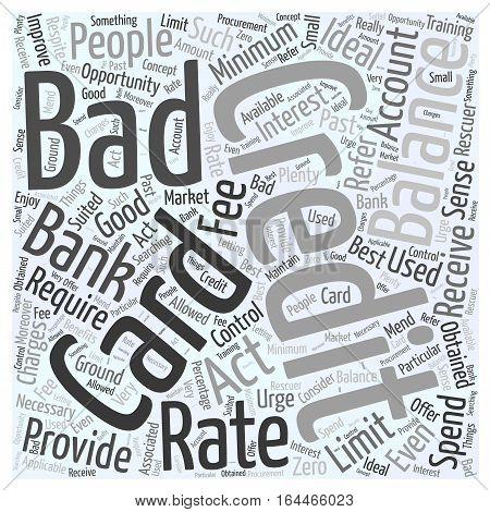 A Bad Credit Credit Card Word Cloud Concept