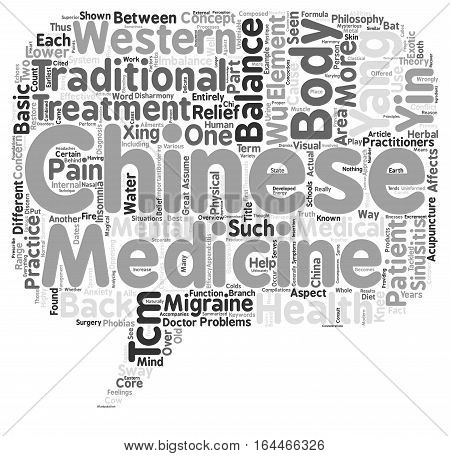 A Basic Overview of Chinese Medicine text background wordcloud concept