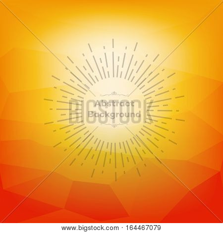 Orange polygon abstract background for presentations creativity design brochures and websites