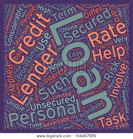 A Beginners Guide To Personal Loans text background wordcloud concept