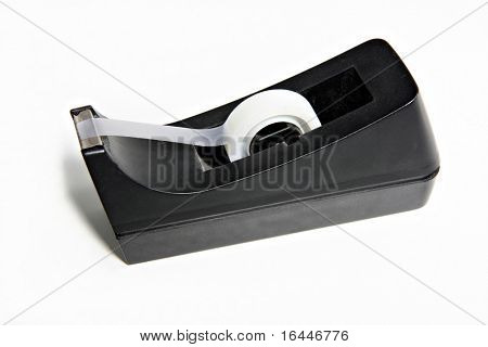Sticky tape dispenser isolated on white background