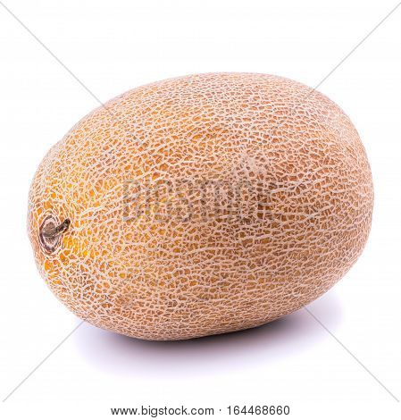 Ripe melon isolated on white background. Selective focus.