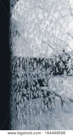 Frozen window,  snowflake, frosting,  frosted window,  frosted glass,  Processed with VSCO with hb1 preset