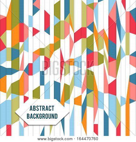 Retro vintage geometric vector paper mosaic  background