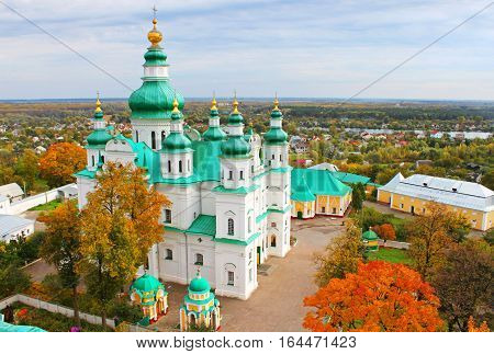 Trinity Monastery Chernigov, Ukraine in the autumn
