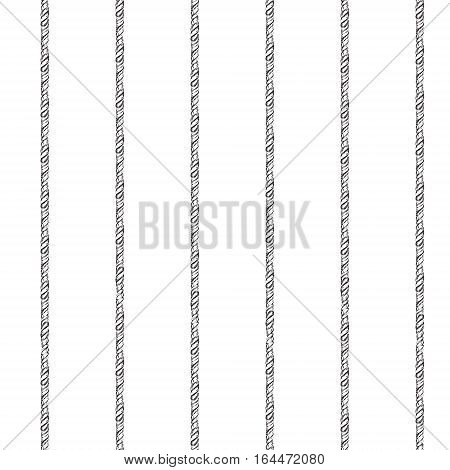 Black and white ropes marine  seamless pattern
