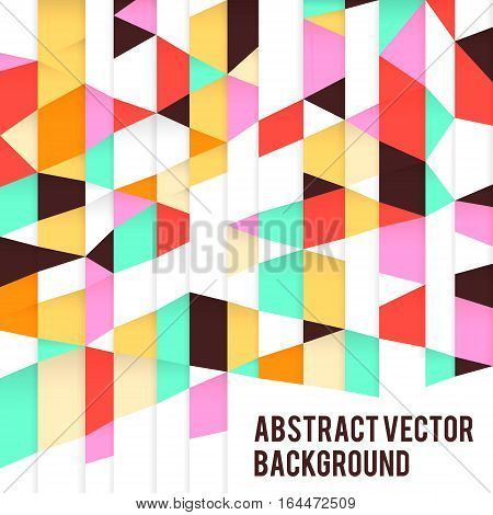 Retro paper vintage  geometric poster vector background