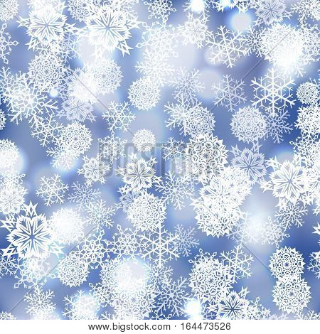 Snowflakes seamless  pattern vector winter snow background