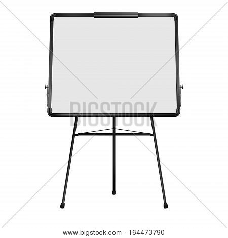 White flip chart. Realistic Vector illustration isolated