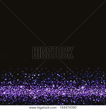 Glitter and bright sand, dark background. Colored sparkles, shiny texture, . Excellent for your greeting cards, luxury invitation, advertising, certificate. Template for vip banners or card