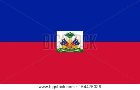 Illustration of the national flag of Haiti