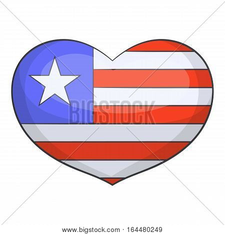 Independence day heart icon. Cartoon illustration of independence day heart vector icon for web design