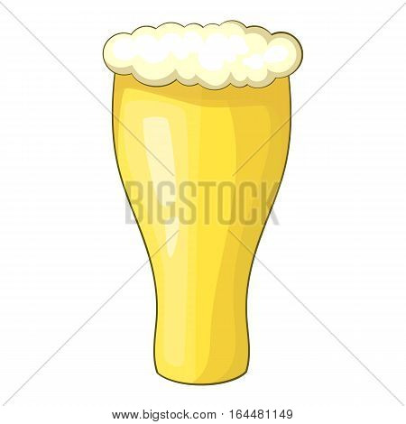 Glass of beer icon. Cartoon illustration of glass of beer vector icon for web design