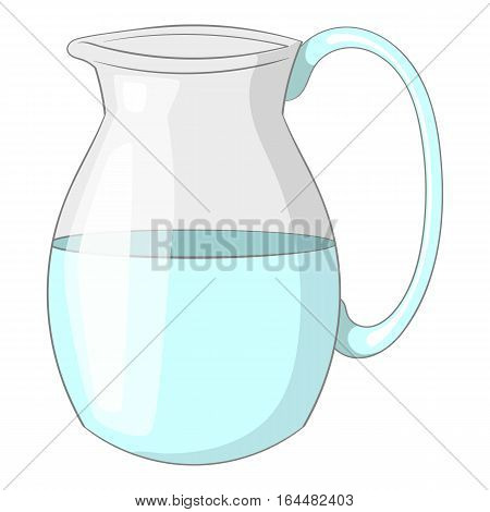 Jug of milk icon. Cartoon illustration of jug of milk vector icon for web design