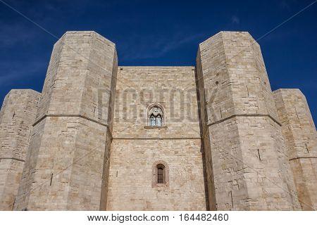 Castel Del Monte On A Hilltop In Puglia, Italy