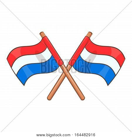 Flag of Netherlands icon. Cartoon illustration of flag of Netherlands vector icon for web design