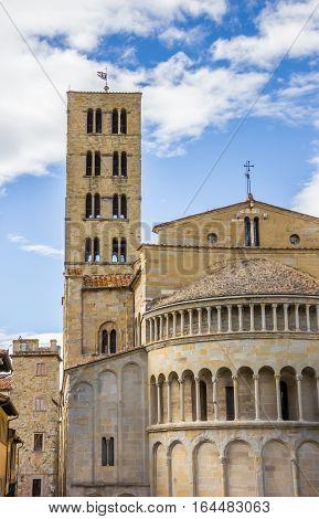 Santa Maria Della Pieve Church In The Historical Center Of Arezzo