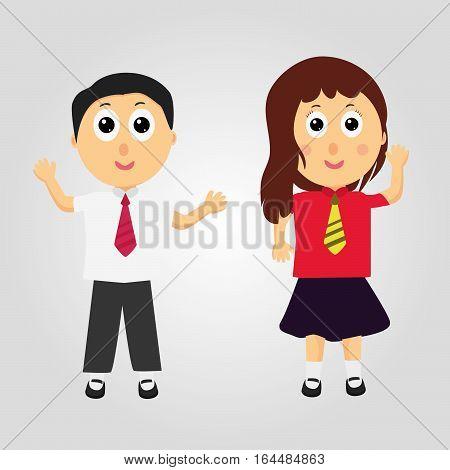 happy kids . happy cartoon child . Vector illustration