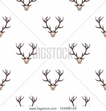 Deer antlers horns icon in cartoon style isolated on white background. Hunting pattern vector illustration.