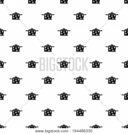Pot with polka dots pattern. Simple illustration of pot with polka dots vector pattern for web