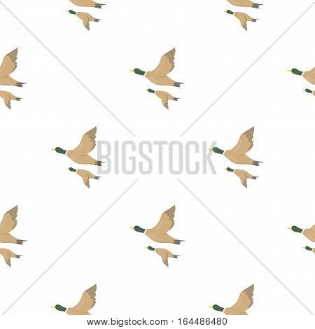 Ducks icon in cartoon style isolated on white background. Hunting pattern vector illustration.