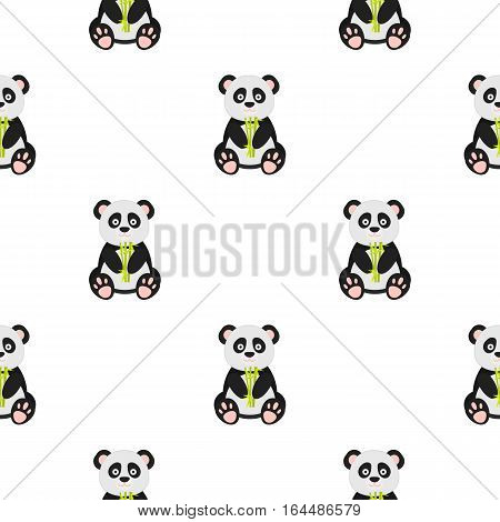 Panda icon in cartoon style isolated on white background. Japan pattern vector illustration.
